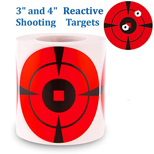 MEMX Reactive Target Stickers 200 Mega-Pack 4-Inch Shooting Targets Bullseye Targets for Shooting-High Visibility Impact-Premium Self-Adhesive Gun Target for Airsoft Guns-Pellet Guns-Rifle.