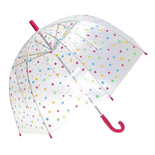 Susino Damen Regenschirm X-brella Sterne (Einheitsgröße) (Pink)
