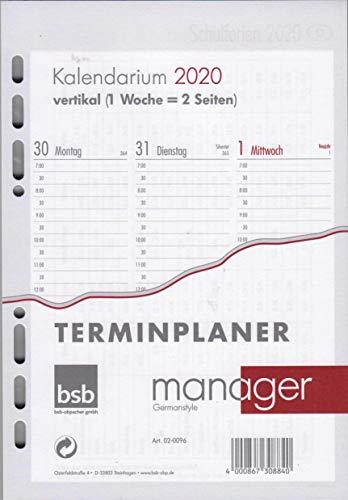"""Ersatzkalendarium""""Manager"""" - A5, 1 Woche / 2 Seiten vertikal"""