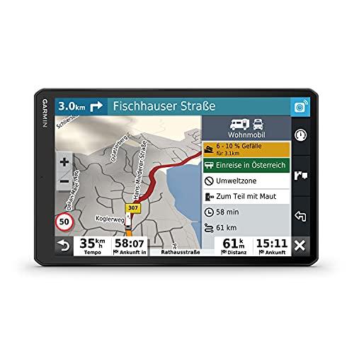 """Garmin Camper 1090 MT-D -Navigationsgerät mit riesigem 10"""" Display für Wohnmobile und Wohnwagen, vorinstallierte 3D-Karten für Europa, Verkehrsinfos über DAB+, Campingplatz-Datenbank, flexible Montage*"""
