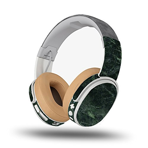 MightySkins Skin Compatible with Skullcandy Crusher Wireless - Green Marble | Protective, Durable, and Unique Vinyl Decal wrap Cover | Easy to Apply, Remove, and Change Styles | Made in The USA