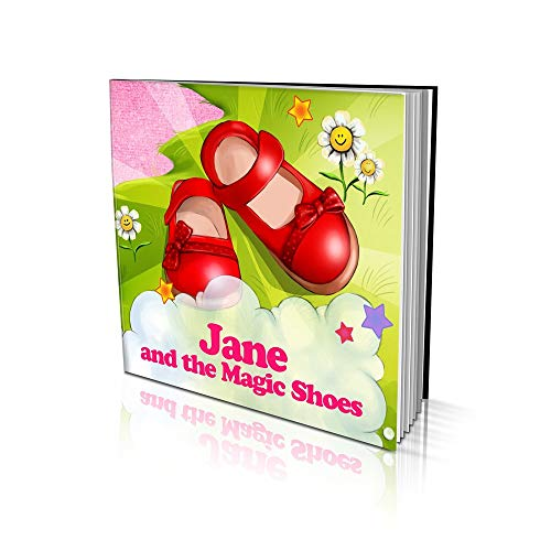 """Personalized Story Book by Dinkleboo""""The Magic Shoes"""" Girls 2 to 8 Years Old - Story About Your Daughter's Magical Adventure - Soft Cover -Smooth, Glossy Finish (8""""x 8"""")"""