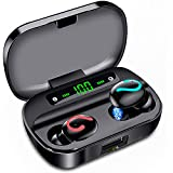 Wireless Earbuds,Bluetooth Earbuds IPX7 Waterproof Headphones TWS Bluetooth 5.0 HD Stereo Wireless Earphones with Charging Case LED Battery Display Built-in Dual Mic