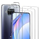 ivencase Compatible con Xiaomi Mi 10T Lite 5G Protector de Pantalla, 3 Pack Cristal Templado y 3 Pack Protector de Lente de cámara Xiaomi Mi 10T Lite 5G