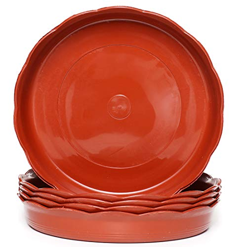 Aeepd - Soucoupes en plastique pour pot de fleurs - Pour jardin, intérieur et extérieur - Terre cuite - 15/20/25/30 cm 6 inch-16cm bottom diameter terre cuite