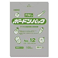 【穴無し野菜果物袋】 ポリ袋 ボードンパック 穴なしタイプ 厚み0.025mm No.12 1000枚 【OPP防曇袋】