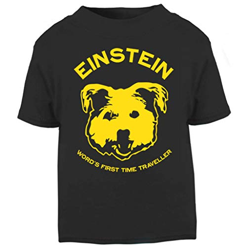 Einstein Time Traveller Back to The Future Baby and Toddler Short Sleeve T-Shirt