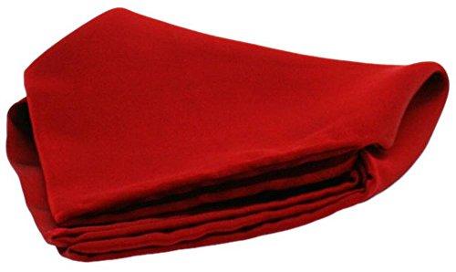 David Van Hagen Mouchoir rouge de satin de soie de