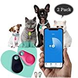 Wireless Key Finder | Spy GPS Tracker Smart Finder Bluetooth Locator Wireless Anti Lost Alarm Sensor for Key Wallet Car Kids Pets Dog Cat Child Bag Phone Located Selfie Shutter - 2 Pack