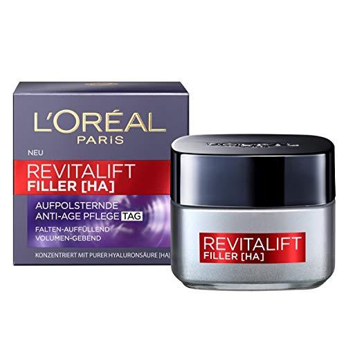 L'Oréal Paris Hyaluron Tagespflege, Revitalift Filler, Anti-Aging Gesichtspflege, Anti-Falten und Volumen, Mit Hyaluronsäure, 50 ml