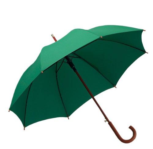 Hochwertiger Regenschirm aus Holz/Stockschirm, Automatik in dunkelgrün (ST1027)
