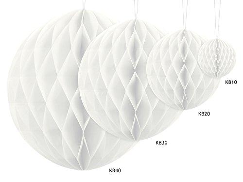 Like a Girl - wir lieben Hochzeiten Juego de 4 bolas de panal de abeja decorativas, diferentes tamaños, papel de panal, decoración para colgar en bodas (blanco)