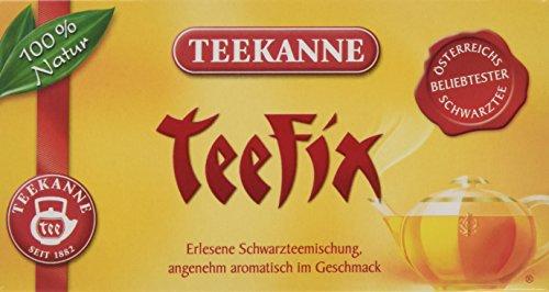 Teekanne Österreich Teefix Schwarztee 20 Beutel, 6er Pack (6 x 35 g)