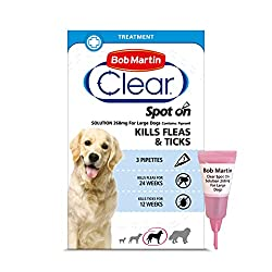 KILLS FLEAS & TICKS - Effective Spot-On treatment, simply apply directly on your dog's skin to kill fleas within 24 hours and ticks within 48 hours LARGE DOGS (20-40KG) - Suitable for large dogs over 8 weeks old, weighing between 20-40kg HOW TO USE -...
