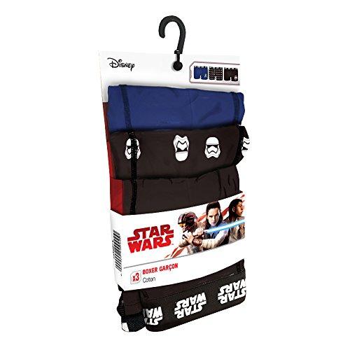 Star Wars Set de 3 Boxers Infantil 35% algodón / 65% poliéster - diseños Variados : Escoge tu Talla