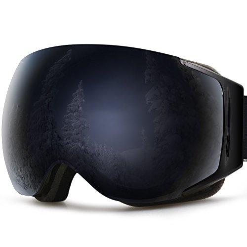 YAKAON Y3 Maschera da Sci OTG, Occhiali da Snowboard Antivento Anti Fog Protezione UV400 con Telaio...