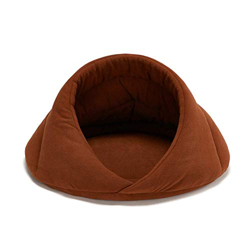 JLKDF Cat Caves Houses Dog Beds Clearance Cat Beds For Medium Cats Pet Bed Hooded Igloo Bed Cat Tent Cave Bed Sleeping Bag For Kitten Cats camel,L