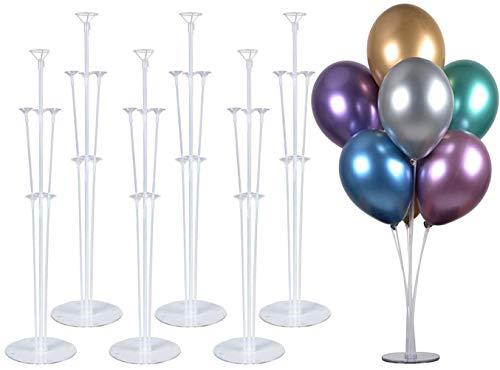 """PILIN Kit de Soporte de Globos de Mesa de 28 """"de Altura para Decoraciones de Fiestas de cumpleaños y Decoraciones de Bodas, Decoraciones de Globos de Feliz cumpleaños para Fiestas y Navidad(6 Pack)"""