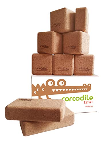 Corcodile Angles Right Angeles Korbausteine Natur Set Bausteine Setv aus Kork 10 Stück