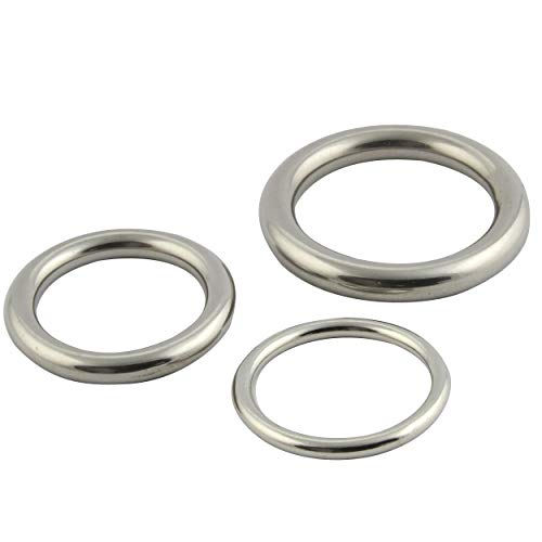 FASTON Edelstahlringe 5x30mm geschweißt und poliert (2 Stück) Edelstahl O Ring Rundring rostfreier Edelstahl A4 V4A
