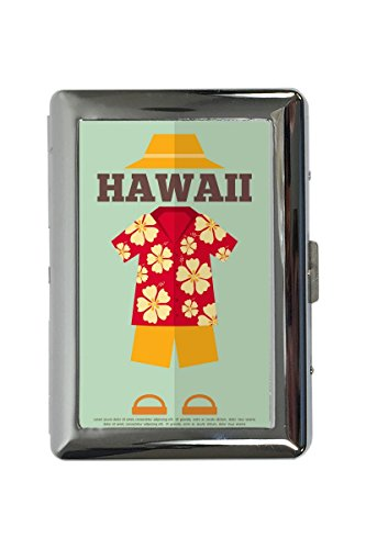 portasigarette in Metallo Vacanza Agenzia Viaggi Hawaii Stampato