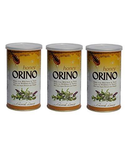 3x Creta Mel kretischer Honig aus Wildkräutern & Thymian je 400g + 10 ml Olivenöl Sachet aus Griechenland