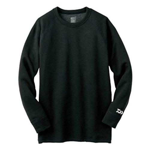 ダイワ(Daiwa) 釣り シャツ 長袖 ブレスマジック クルーネックシャツ 極厚手・丸首 DU-3006S ブラック L