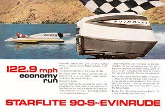 Print Ad: 1964 Starflite 90S Evinrude