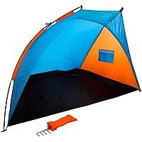 UPF+50 99/% UV 180 CM Sombrilla de Playa con Paneles Laterales Tipo Tienda//Paravientos