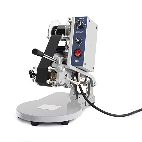 Sumeve Electric Hot Stamp Printer Ribbon Coding Machine Date Printing Machine Hot Code Stamp Printer for All Kinds of Plastic Film and Other Flexible Packaging Products DY-8 110V