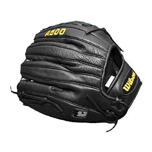 XIAONINGMENGDIAN Baseballhandschuhe, Junior Soft Leder Infield Game Softball Baseballhandschuhe, 12 Zoll, Linkshänder, Schwarz. Outdoor Sport (Color : Black)