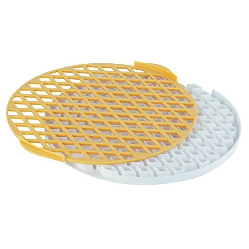 Tescoma 630898 Delícia Reticolo Tagliapasta per Crostata, Plastica, Giallo/Bianco, Diametro 30 cm