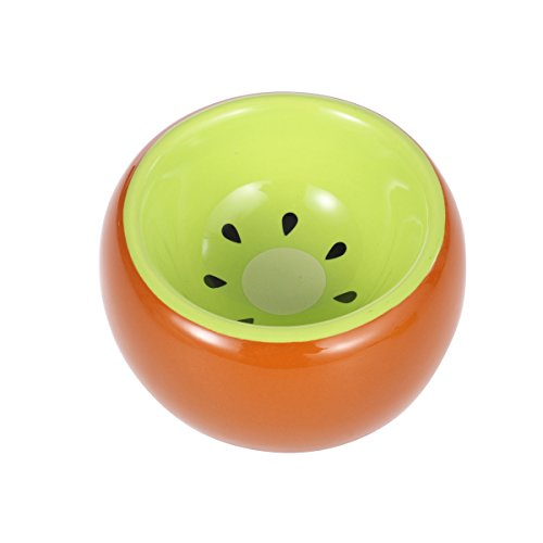 UEETEK Hamster Food Bowl Ceramic Prevent being Tipped Small Animal Water Food Dish for Guinea Pig Rodent Gerbil Cavy Hedgehog Feeding Bowl