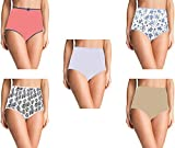 Pepperika Women's (Size 3XL) High Waist 100% Cotton Brief Underwear Hipster Full Coverage Maternity Pregnancy C-Panty After Delivery Panties (Multicolour - Pack of 5) (Colors and Prints May Vary)