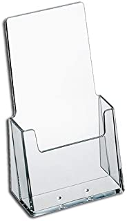 Source One 6 Pack Premium Counter Top Trifold 4-Inch Wide Acrylic Brochure Holder (S1-6P-TPtri)