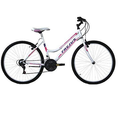 MASCIAGHI Bicicletta 24' Donna FREJUS MTB 18VELOCITA' • Bianco/Fuxia
