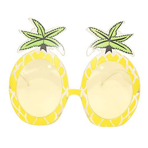 SUMTTER Sonnenbrille im Klassiker Stil Lustige Verrückte Neuheit Damen Brille Kostüm Accessoires Ananas