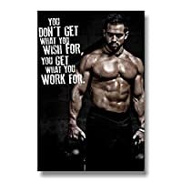 Bodybuilding Men Gym Posters Home Gym Decor Workout Posters Home Gym Motivational Quote Wall Art Canvas Paintings Sport Room Decor 40x60cm/Unframed-4