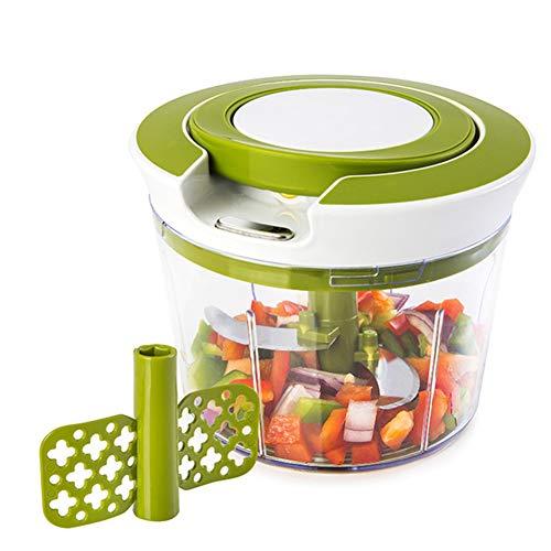 Food Chopper, Krachtige Handmatige Handheld Chopper/Mixer/Blender voor Salsa Salade Pesto Coleslaw Puree