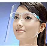 【BIO】フェイスシールド メガネタイプ 6枚セット 飛沫防止 男女兼用 フリーサイズ 笑顔が見えるマスク 業務用 調理用 (6セット入)