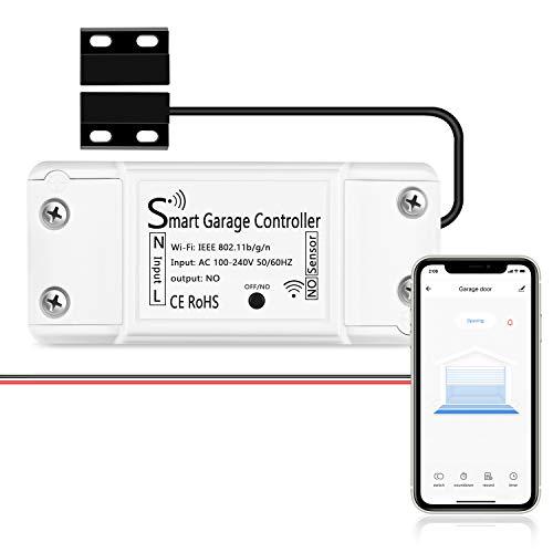 KKING Smart WLAN Garagentoröffner funktioniert mit Apple HomeKit, APP-Steuerung, Kompatibel mit Alexa, Google Assistant und SmartThings, kein Hub erforderlich