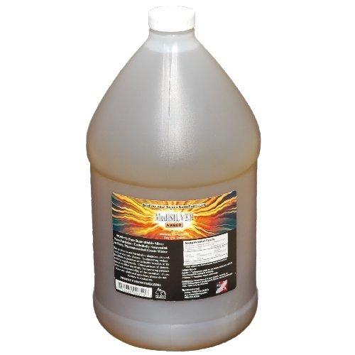 MediSILVER Amber Traditional colloidal Silver - 1 U.S. Gallon in BPA Free Plastic jug