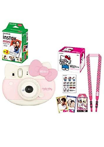 インスタントカメラ チェキ instax mini チェキ HELLO KITTY ハローキティ&フイルム20枚&アルバム60枚収納セット