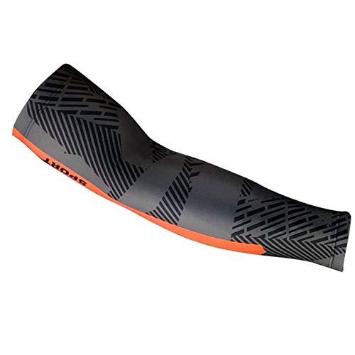 cottonlila Manga de brazo al aire libre para hombres y mujeres cubrir hasta mangas para cubrir los brazos ropa de enfriamiento sol protección UV ciclismo - gris+naranja - M