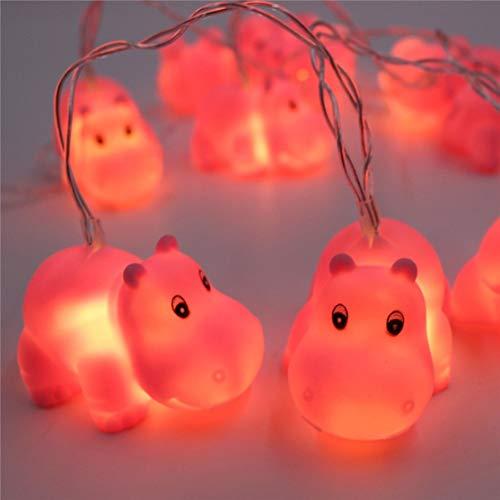 Tier Lichterkette Kürbis LED Sternenlichter Deko Licht Led Tier Kaemma (Farbe: Nilpferd)