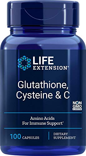 Life Extension Glutathione, Cysteine and C Vegetarian Capsules, 750 mg, 100 Count