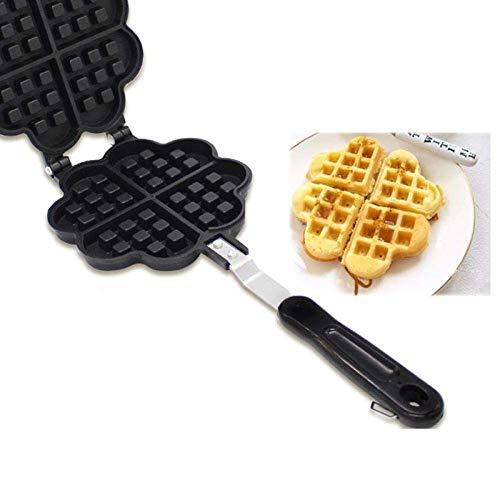 Antihaft Waffeln Maker Mold Tragbare Eisen Maschine Haushaltsküche Gas Pan Blase Cake Backofen Frühstücksmaschine Kuchen Maker Optionc Für Küche, Kochen kshu