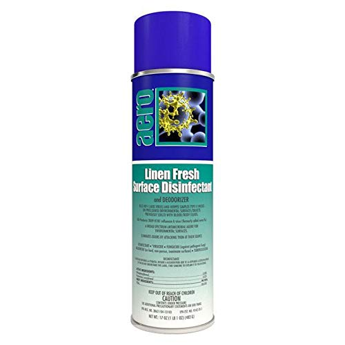 Aero Linen Fresh, Surface Disinfectant and Deodorizer Spray, 17oz can - Box of 12