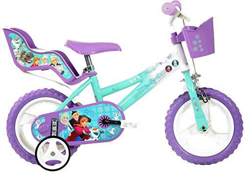 Dino Bikes Mädchen Kinderfahrrad Fahrrad, Lila, 12 Inch