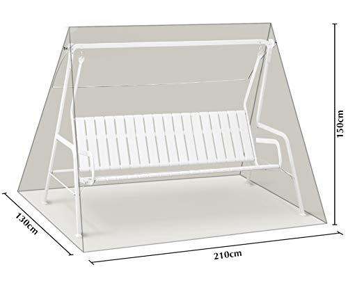 GRASEKAMP Qualität seit 1972 Schutzhülle Hellgrau für 3 Sitzer Hollywoodschaukel aus Polyester 300D